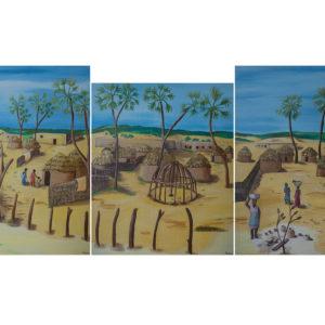 Village tryptique