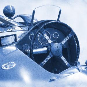 Invitation à la course 6 (Delage type D6 3L course monochrome bleu)